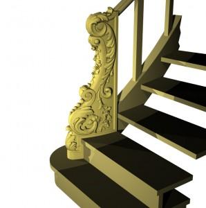 Резной декоративный элемент, 3D модель