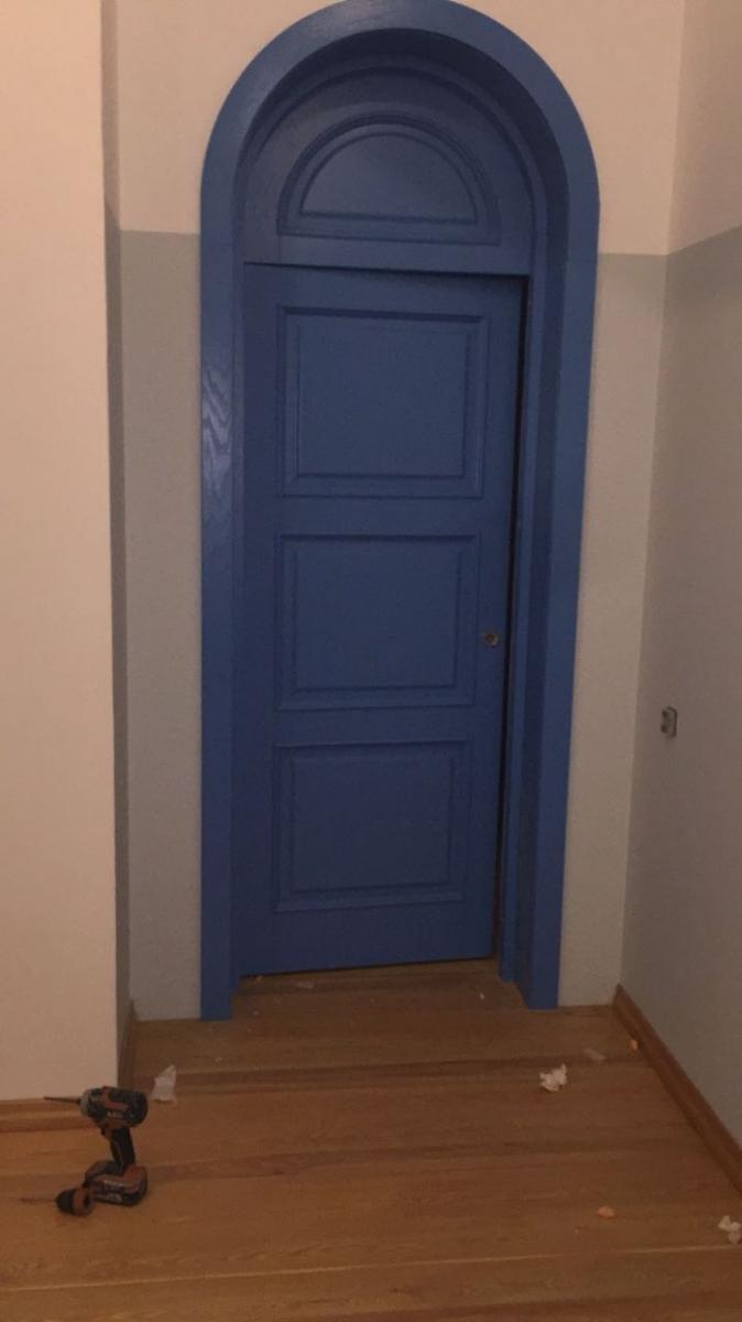 Двери арочные из дуба