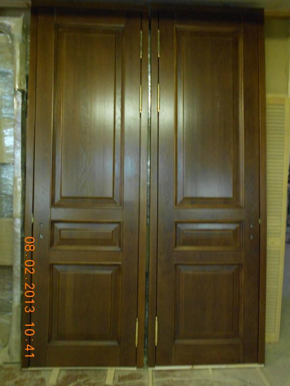 Двери двупольные межкомнатные из массива дуба