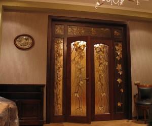 распашные двустворчатые межкомнатные двери